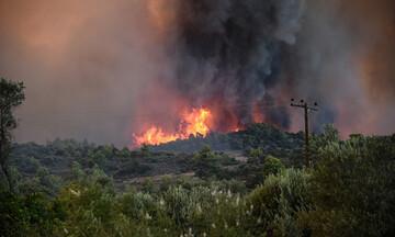 Λάρισα: Σε εξέλιξη μεγάλη πυρκαγιά στο Κιλελέρ