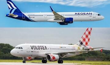 AEGEAN και Volotea: Εμπορική συνεργασία για περισσότερες απευθείας πτήσεις με χρήση κοινών κωδικών