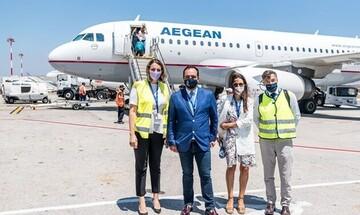 Μύκονος: Έναρξη λειτουργίας για τη νέα εποχική βάση της AEGEAN