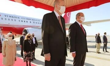 Κύπρος: Έφτασε στα κατεχόμενα ο Ερντογάν για την προκλητική «φιέστα»