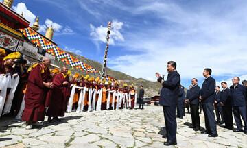 Κίνα: Ο πρόεδρος Σι Τζινπίνγκ επισκέφθηκε για πρώτη φορά το Θιβέτ (vid)