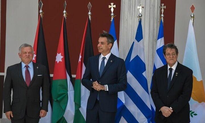 Κυρ. Μητσοτάκης: Δέσμευση Ελλάδας-Κύπρου-Ιορδανίας για ειρήνη, σταθερότητα και ευημερία στην περιοχή
