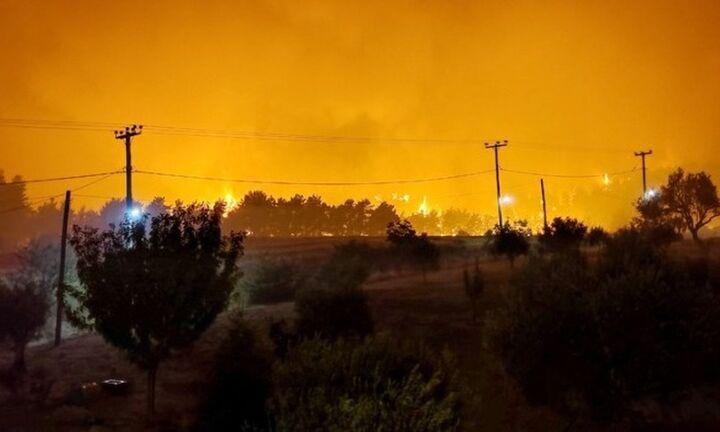 Τέσσερα μέτωπα φωτιάς στη Λίμνη Ευβοίας  - Μετρούν τα καμένα σπίτια