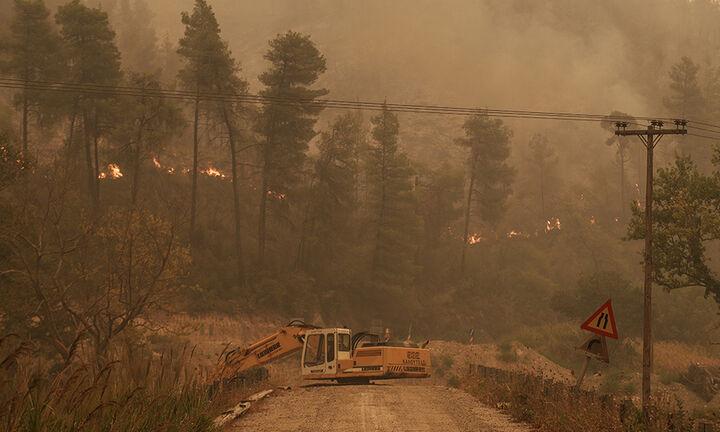 Διάσπαρτες εστίες φωτιάς στη Γορτυνία