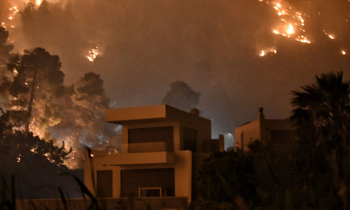 Νέα φωτιά στην Εύβοια στον Μίστρο του Δήμου Διρφύων