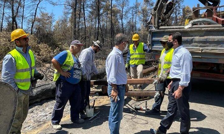 Κ.Σκρέκας: Προχωρεί η αποκατάσταση των πληγεισών περιοχών και των οικοσυστημάτων στη Βορ.Εύβοια