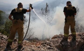Βίλια: Καλύτερη η κατάσταση, συνεχίζουν να επιχειρούν δυνάμεις της πυροσβεστικής