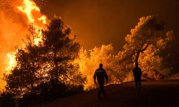 Σε εξέλιξη νέα μεγάλη πυρκαγιά στην Εύβοια