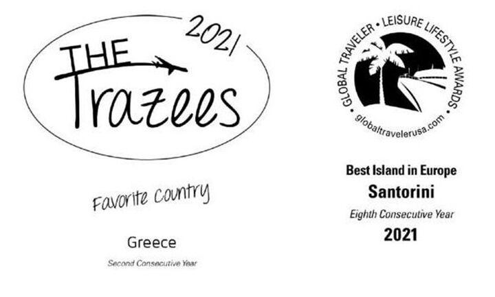Σάρωσαν τα αμερικάνικατουριστικά βραβεία FXExpress 2021 Awards Ελλάδα και Σαντορίνη