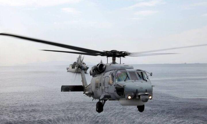 Αίσιο τέλος στην Κύθνο: Διασώθηκαν από ελικόπτερο του ΠΝ οι έξι επιβαίνοντες του καταμαράν