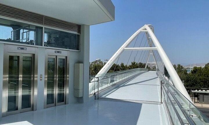 Παραδίδεται το απόγευμα, η πεζογέφυρα στην είσοδο της Μαρίνας Φλοίσβου