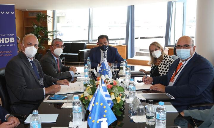 Μνημόνιο συνεργασίας Ελληνικής Αναπτυξιακής Τράπεζας-HDB με τον ΣΕΒ