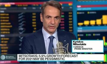 Μητσοτάκης σε Bloomberg: Το κλίμα στην Ελλάδα ύστερα από 10 χρόνια οικονομικής κρίσης έχει βελτιωθεί