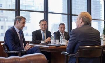 Συνάντηση του Κυρ.Μητσοτάκη με τον πρόεδρο της Microsoft B. Smith