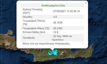 Νέος ισχυρός σεισμός τώρα στην Κρήτη