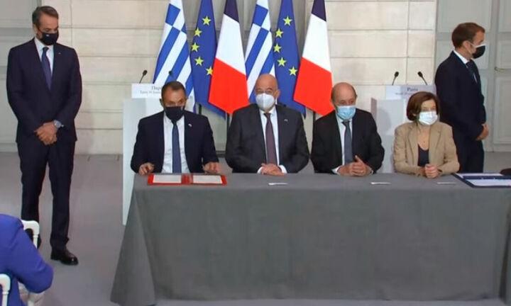 Μητσοτάκης-Μακρόν: Τι προβλέπεται στην αμυντική συμφωνία - Ενίσχυση με 3+1 φρεγάτες Belhara