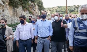 Κυρ. Μητσοτάκης από Αρκαλοχώρι: Άμεση ενίσχυση 1 εκατ. ευρώ στου πληγέντες