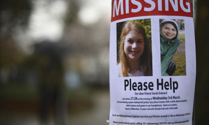 Βρετανία: Ισόβια κάθειρξη στον αστυνομικό που βίασε και σκότωσε τη Σάρα Έβεραρντ