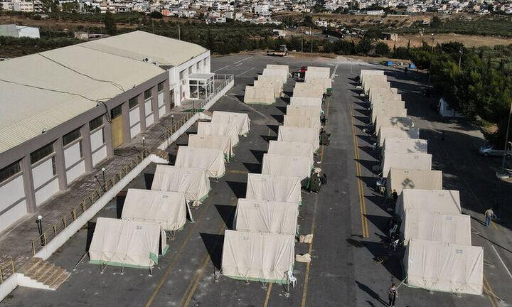 Κρήτη: Νέο κρούσμα κορωνοϊού σε βρέφος 9,5 μηνών που έμενε σε σκηνή σεισμόπληκτων