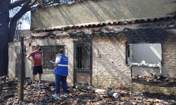Ξεκίνησε την απογραφή και καταγραφή ζημιών από τις πυρκαγιές