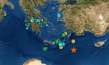 Ισχυρός σεισμός 6,1 Ρίχτερ στον θαλάσσιο χώρο ανοιχτά της Καρπάθου